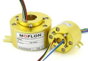 1pc Moflon 6 Wires Bore 12 7mm Od33mm Rotate The Conductive Slip Ring f4862 Cy