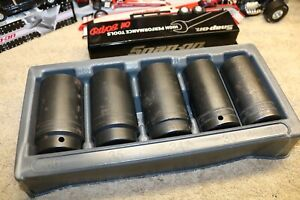 Snap On Tools 305simmy 5 Piece 1 2 Drive Metric Impact Socket Set 29 30 34 35 36