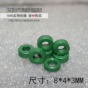 50pcs 8 4 3mm Green Iron Power Ferrite Toroid Core f0061 Cy