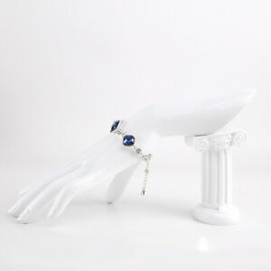 Resin Jewelry Ring Bracelet Watch Display Hand Stand Holder Rack Cream White