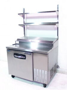 Used Nor lake Pt44 44in Pizza Prep Table With Double Overshelf