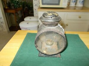 Middle To Late 1800s Hand Held Lantern With Removable Oil Tin For Fluid Miner S