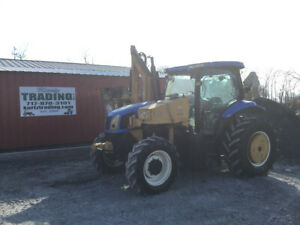 2005 New Holland Ts115 4x4 Tractor W Cab Side Arm Alamo Mower Only 2800hrs