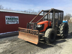 2010 Kubota M108s 4x4 Forestry Tractor W Winch Front Blade Only 2100 Hours