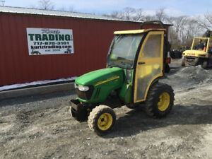 2012 John Deere 2320 4x4 Hydro Compact Tractor W Cab Only 700 Hours
