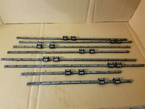 Thk Sr15 Lot Of Linear Rail Slides Cnc Guides Used Block