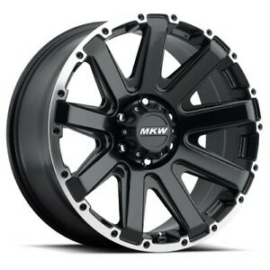 17x9 Mkw Offroad M94 Satin Black Machined Wheels 5x5 5 10mm Set Of 4