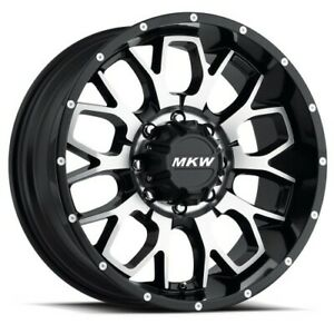 18x9 Mkw Offroad M95 Satin Black Machined Wheels 8x180 10mm Set Of 4