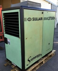 Nice Sullair 3907 a 50 Hp Rotary Screw Air Compressor