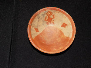 Pre Columbian Chupicuaro Bowl With Glyphs Authentic Mesoamerica Polychrome