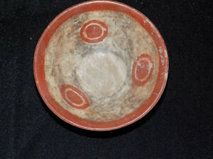 Pre Columbian Chupicuaro Bowl With Sun Glyphs Authentic Mesoamerica Polychrome
