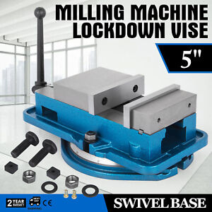 5 Milling Machine Lockdown Vise Swivel Base Clamping Vise Drilling 24kn Hot