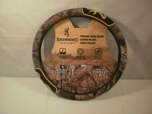 Browning Camo Auto Steering Wheel Cover Mossy Oak 2 Grip