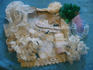 Lot Of Vintage And Other Lace For Doll Cloths Craft Items And Sewing