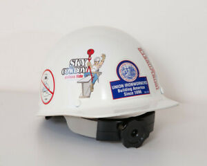 White Msa Skullgard Hard Hat W fastrak Ii Suspension Like New With Stickers