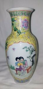 Chinese Famille Verte Porcelain Vase With Reign Mark Free Shipping