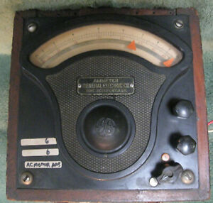 Vintage General Electric P 3 Ammeter W o Cover