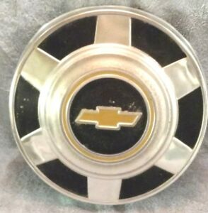 Vintage 73 87 Chevy Truck 12 Dog Dish Poverty Hub Caps Set 2 Aluminum Oem