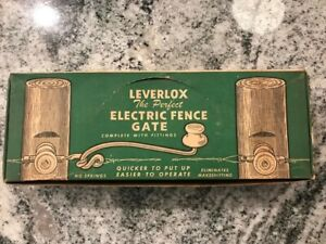 Rare Vintage Leverlox Electric Fence Gate Nos