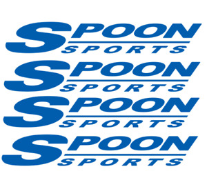 4x Blue Spoon Sports Wheel Rim Sticker Slipstream Rota Restoration Decal Kit