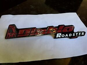 Lamborghini Diablo Roadster Rear Metal Script Badge Logo