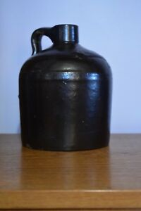 Old Lil Brown Jug Glazed Stoneware Shoulder Crock W Handle 9 Red Wing Pottery