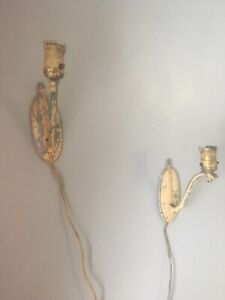 Vintage Lasalle Wall Sconce Lamps Lights B 4062 Lot Of 2