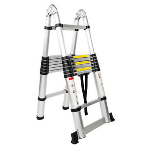 12 5 16 5ft Telescoping Ladder Aluminum Telescopic Extension Multi Purpose