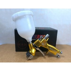 Devilbiss Gti Pro Lite Te20 Gravity Spray Paint Gun 1 3 Mm 600 Ml Cup Gold Color