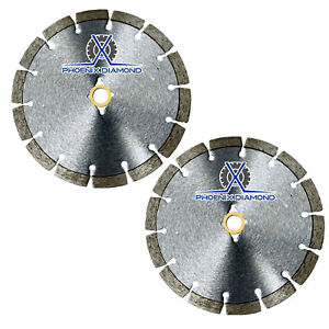 2pck 14 Wet dry Diamond Saw Blade All Purpose For Concrete Stone Brick Masonry