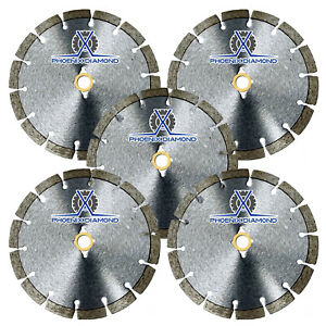5pck 14 Wet dry Diamond Saw Blade All Purpose For Concrete Stone Brick Masonry