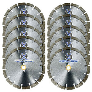 10pc 14 Wet dry Diamond Saw Blade All Purpose For Concrete Stone Brick Masonry