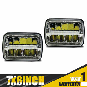 Fit 1987 1988 1989 1990 1991 Jeep Wrangler Yj Angry Eyes Mad 7x6 Led Headlight