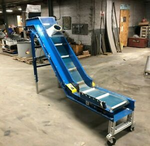 9 1 2 X 11 Incline Vertical Cleated Conveyor Boston Gear Grtf w 1ph Can Ship