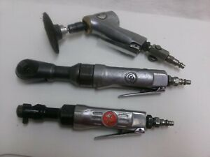 Air Tool Lot 3 8 Air Ratchet Chicago Pneumatic Angle Grinder 1 4 Ratchet