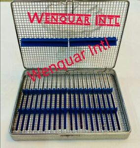 Rhoton Micro Dissector Expanded 20 Pcs Set Titnuiam Coated In Steel Case