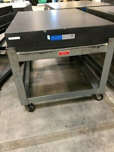 Precision 36 x48 x6 Gr A Granite Surface Plate W stand Current Calibration