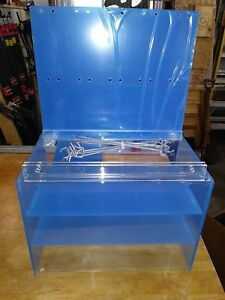 Acrylic Counter Display Case With Peg Hooks New