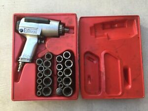 Snap On Im 5a 1 2 Drive Air Impact Wrench W Impact Socket Sets Deep