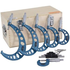 0 6 Outside Micrometer Set Machinist Tool Carbide New