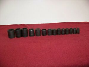 Snap On Williams Tools 1 2 Dr Standard Shallow Impact 6 Point Socket Set
