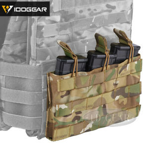 IDOGEAR Triple Magazine Pouch 5.56 Mag Pouch Open Top MOLLE Airsoft Camo Hunting $21.69