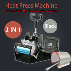 Digital Display Heat Press Transfer Sublimation Machine For Cup Coffee Mug Us