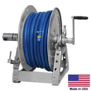 Pressure Washer Sprayer Manual Hose Reel 125 Ft 3 8 Or 75 Ft 1 2 Id Hose