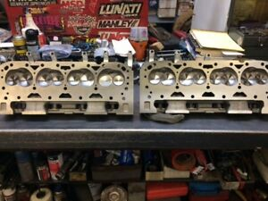 Pair Of Dart Iron Eagle Cylinder Heads 215 Cc Small Block Chevy 2 055 1 625
