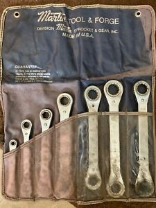 Martin Rb7k Straight Pattern Ratcheting Box Wrench Set 7 Pieces Ranging From 14
