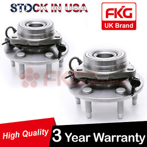 2 Front Wheel Hubs Bearings Assembly Pair Abs For Chevy Gmc Truck 4wd 515036