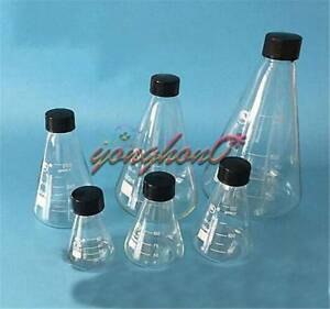 Glass 150 3000ml Conical Erlenmeyer Narrow Mouth Screw Cap Flask Lab Glassware