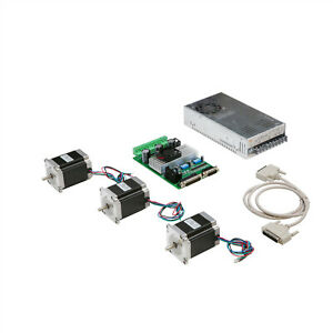 3 Axis Nema 23 Stepper Motor 290oz in 1a 23hs8610 Driver Cnc Kit Longs Motor