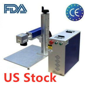20w Split Fiber Laser Marking Engraving Machine With Rotary Axis Us Stock